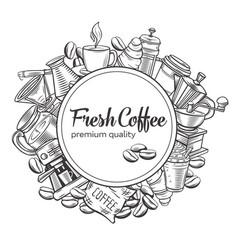 Template coffee design vector