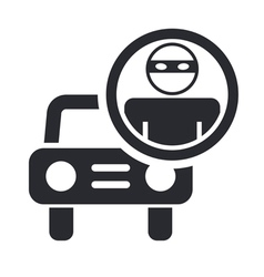 thief car icon vector image vector image