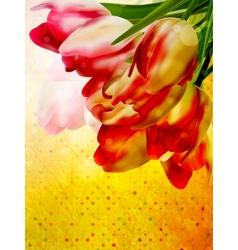 Vintage floral frame background EPS 10 vector image
