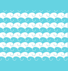 Waves abstract background with hand-drawn waves vector