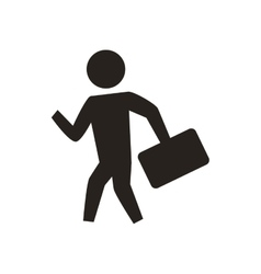 Pictogram person silhouette action icon vector