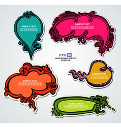 Multicolored floral speech bubbles vector image