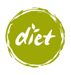 Diet hand drawn isolated label vector