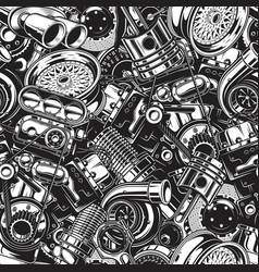 Autimobile car parts seamless pattern vector