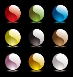 ying yang web icons vector image