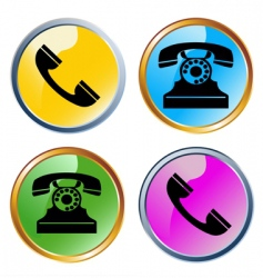 Glossy phones icons vector