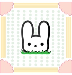 Cute little rabbit vector