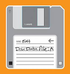 floppy disc illustration vector image