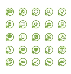 Eco universal outline icons for web and mobile vector