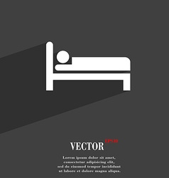 Hotel icon symbol flat modern web design with long vector