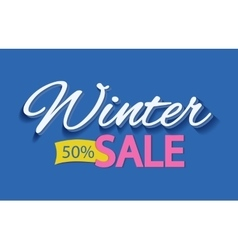 Advertise with winter discounts vector