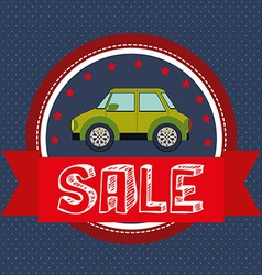 Cars on sale vector