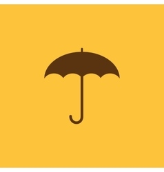 The umbrella icon protection symbol flat vector