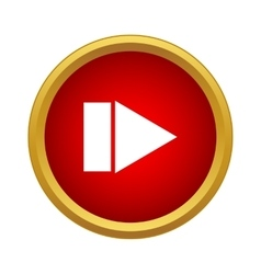 Play button icon simple style vector