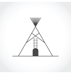 American indian tipi icon vector