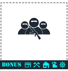 Bandit group icon flat vector