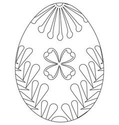 Black and white easter egg poster vector