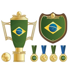 Brazil football ornaments vector