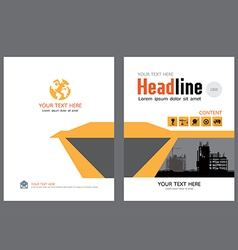 Brochure template design 3 vector image