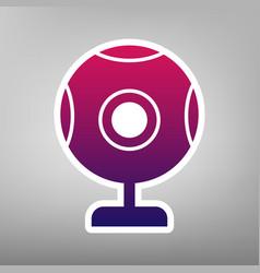 Chat web camera sign purple gradient icon vector