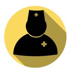 Doctor sign flat black icon vector