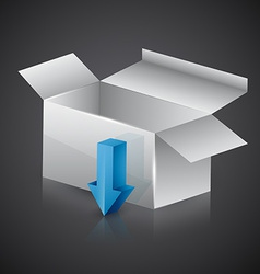 download box vector image