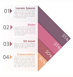 Four Options Infographics vector image