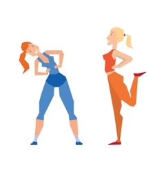 Girl exercise healthy workout gym sport training vector image