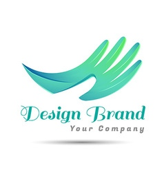 Hand logo Organic Life symbol concept template vector image vector image