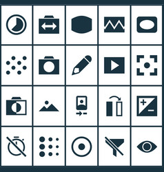 Image icons set collection of circle accelerated vector