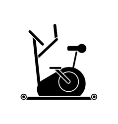 Isolated bike of fitness gym vector image vector image