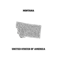 Label with map of montana vector image vector image
