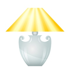 Lamp with yellow lampshade vector