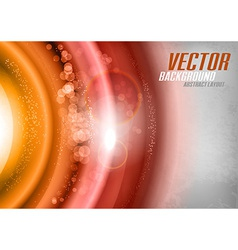 Orange Universe vector image vector image