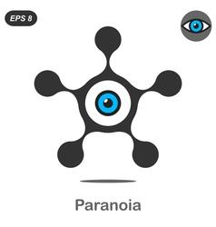 Paranoia concept icon vector