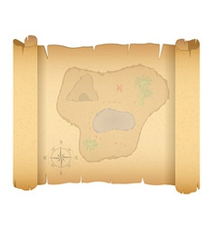 Pirate treasure map 01 vector