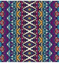 Seamless ethnic tribal indianl geometric print vector