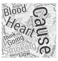 Stop smoking in healthy aging word cloud concept vector