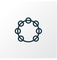 Tambourine outline symbol premium quality vector