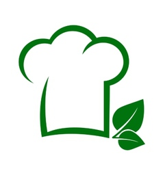Vegetarian icon with chef hat vector