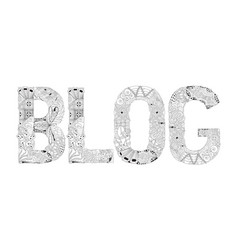 word blog for coloring decorative vector image vector image
