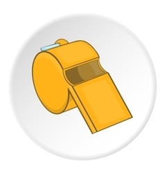 Sport whistle icon  cartoon style vector image
