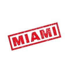 Miami rubber stamp vector