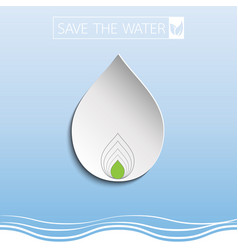 Water drop with paper art vector