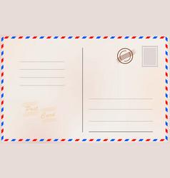 vintage postcard design card vector image