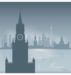 Moscow russia skyline city silhouette background vector