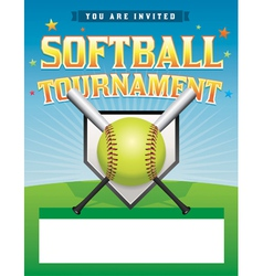 Softball tournament flyer vector