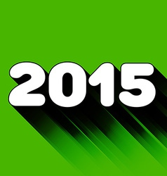2015 year sign with long shadow vector