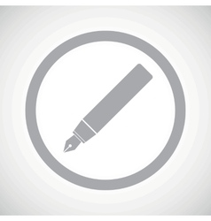 Grey ink pen sign icon vector