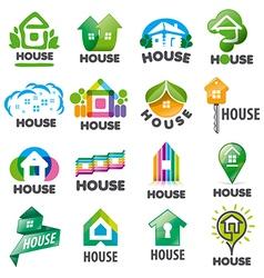 large set of logos homes vector image